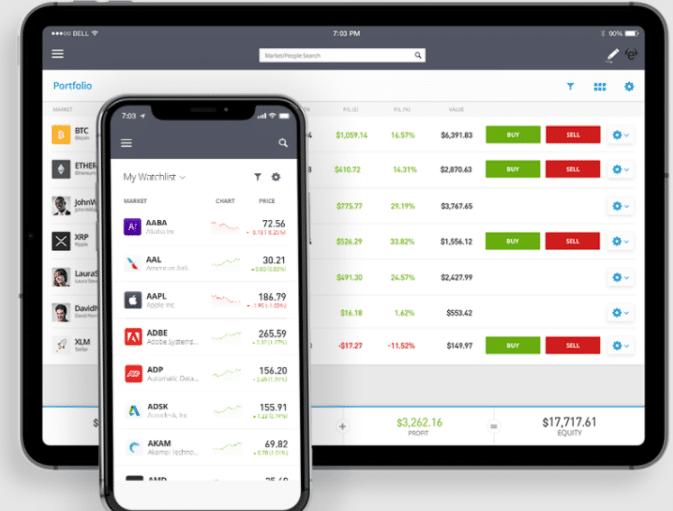 etoro demo app