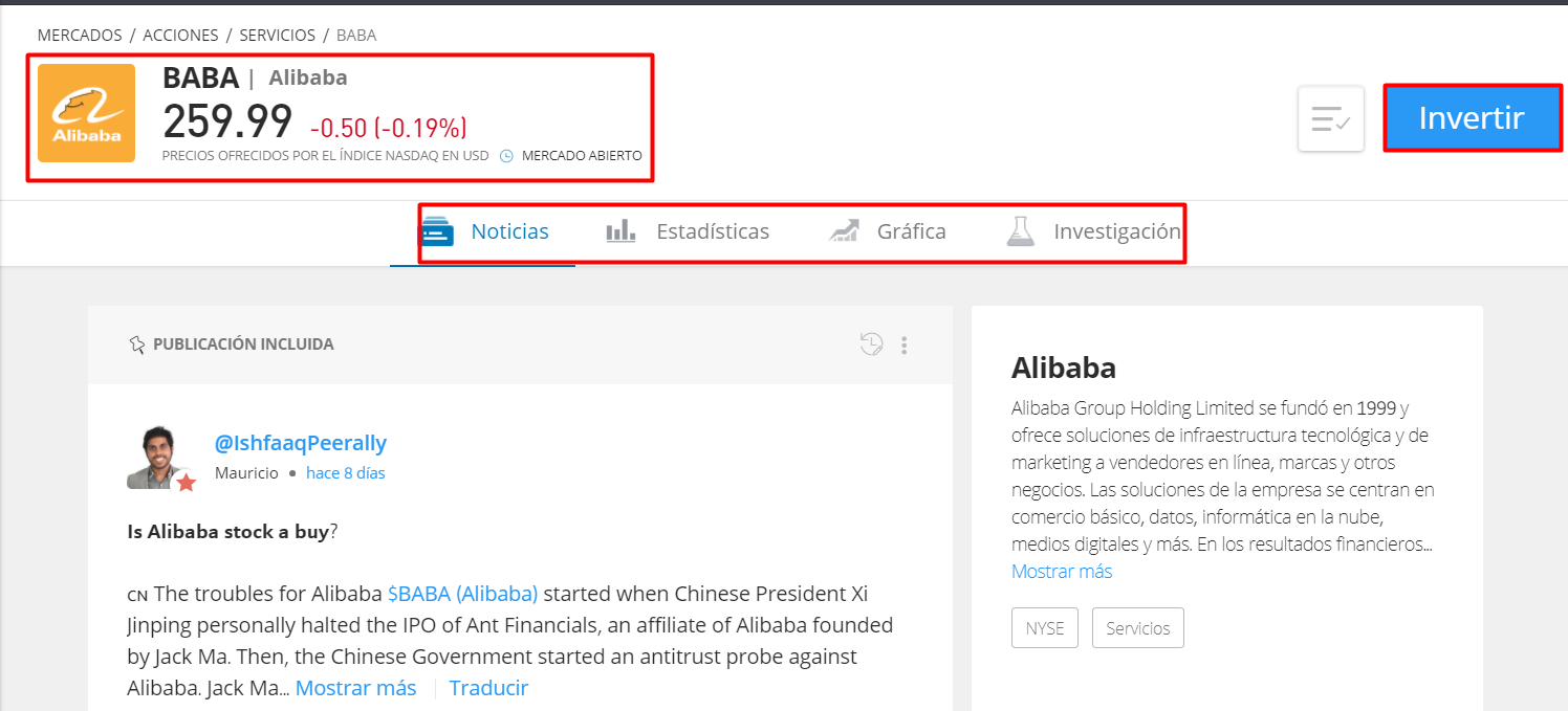 Invertir en Alibaba