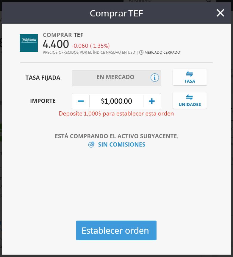 comprar acciones telefonica etoro