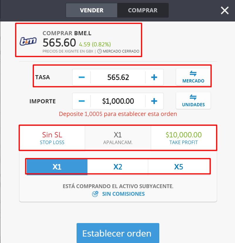 Comprar acciones BME