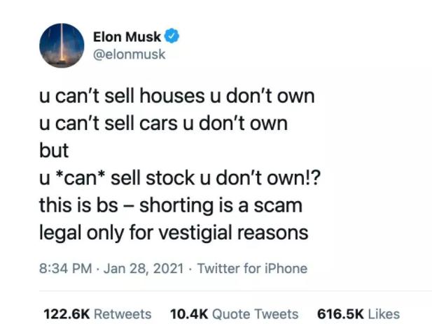 Elon Musk Gamestop