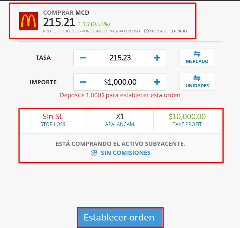 acciones mcdonalds comprar