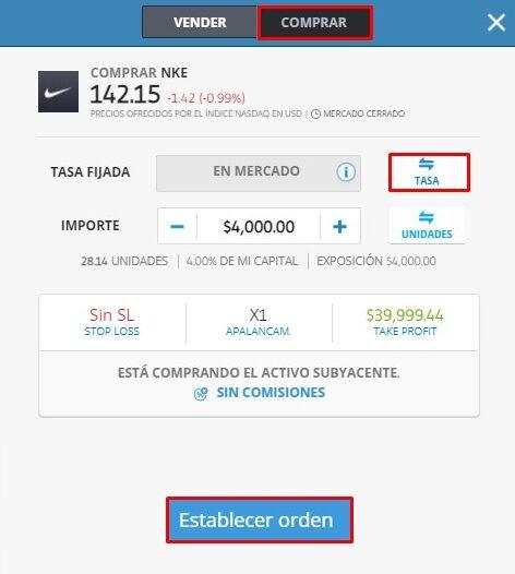 comprar acciones Nike inc