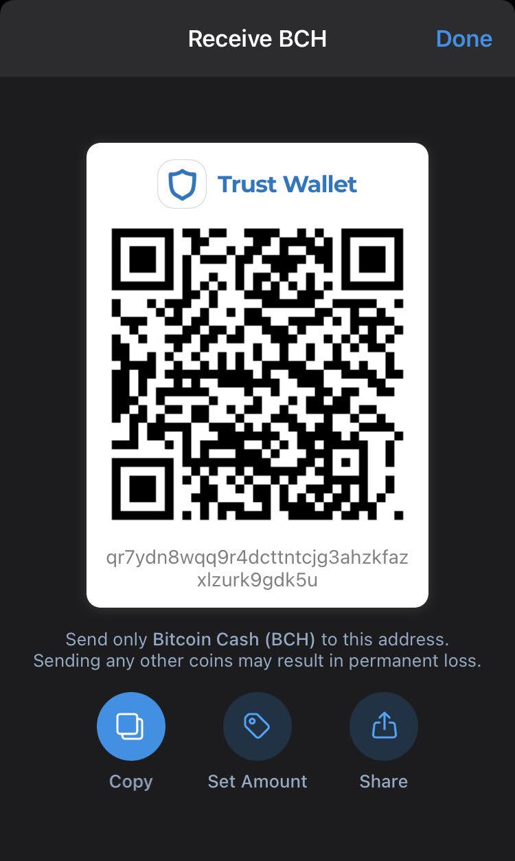 enviar BCH a trust wallet